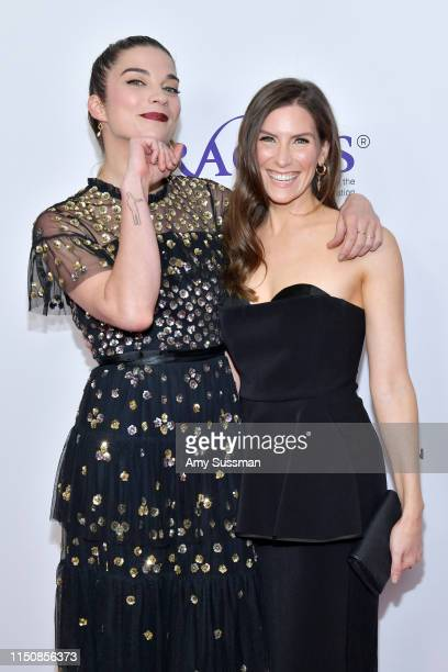 Annie Murphy and Sarah Levy attend the 44th Annual Gracies Awards hosted by The Alliance for Women in Media Foundation at the Beverly Wilshire Four...