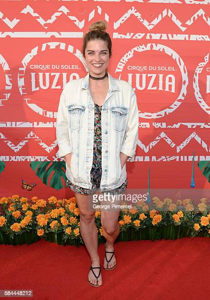 Annie Murphy attends the opening of Cirque Du Soleil's 'Luzia' at Port Lands on July 28 2016 in Toronto Canada