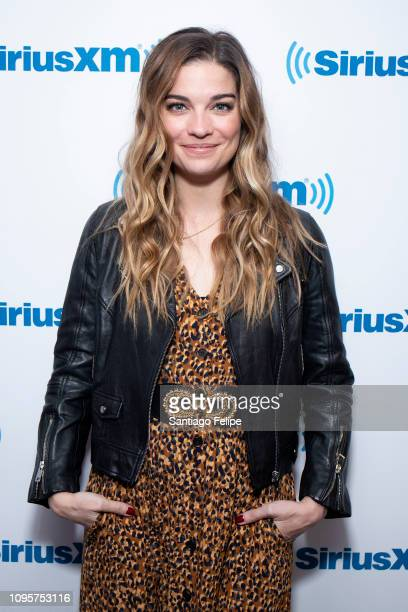 Annie Murphy visits SiriusXM Studios on January 17 2019 in New York City
