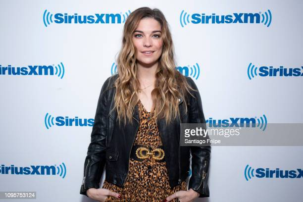 Annie Murphy visits SiriusXM Studios on January 17 2019 in New York City