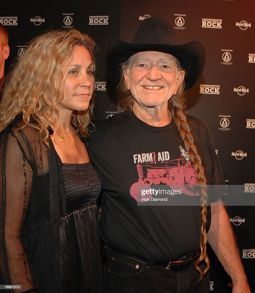 Annie Nelson, co-founder of Sustainable Biodiesel Alliance and Musician Willie Nelson arrive on The Green Carprt forThe Launch of the Sustainable Biodiesel Alliance at the Hard Rock Cafe in New York City on September 10,2007.
