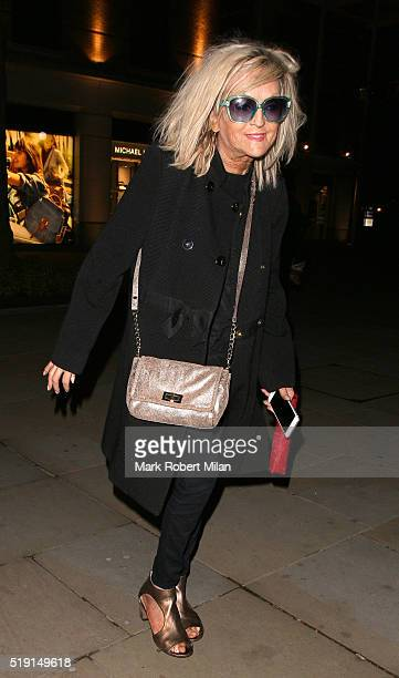 Annie Nightingale attending The Rolling Stones 'Exhibitionism' private view at the Saatchi Gallery on April 4 2016 in London England