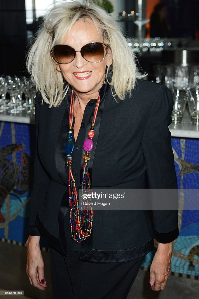 Annie Nightingale attends the premiere afterparty of 'Crossfire Hurricane' during the 56th BFI London Film Festival at Quaglinos on October 18, 2012 in London, England.