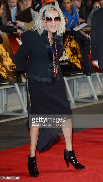 Annie Nightingale attends the premiere of Crossfire Hurricane at The BFI London Film Festival at Odeon Leicester Square