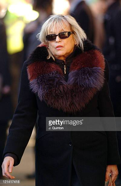 Annie Nightingale during Broadcaster John Peel's Funeral November 12th 2004 at St Edmundsbury Cathedral in Bury St Edmunds Great Britain