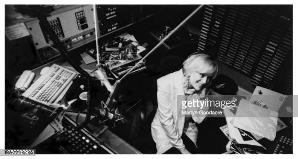 Annie Nightingale in the BBC Radio 1 studios, London, November 1995.