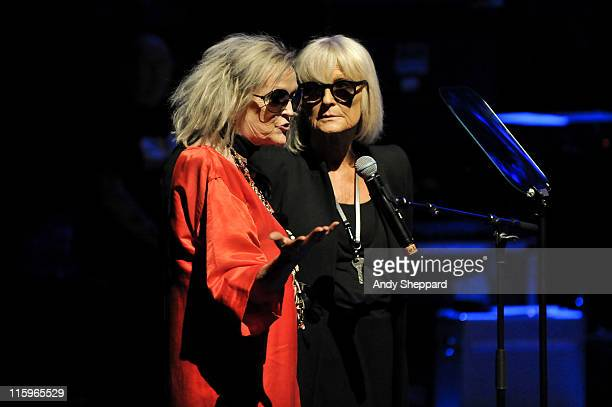 Annie Nightingale interviews founder of Bibba fashion house Barbara Hulanicki on stage during a recreation of the 1960's British TV Pop show Ready...