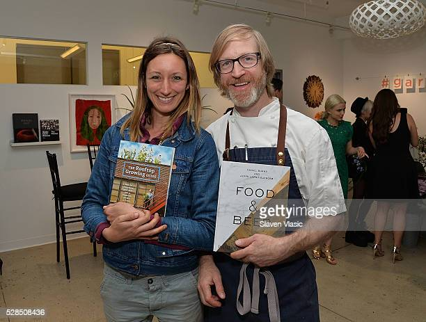 Annie Novak and chef Daniel Burns attend the Floral Salon celebration by Garden Collage and Phaidon on May 4 2016 in New York City