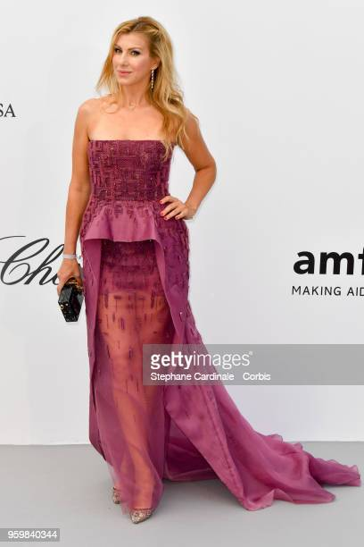 Annie Novak arrives at the amfAR Gala Cannes 2018 at Hotel du CapEdenRoc on May 17 2018 in Cap d'Antibes France
