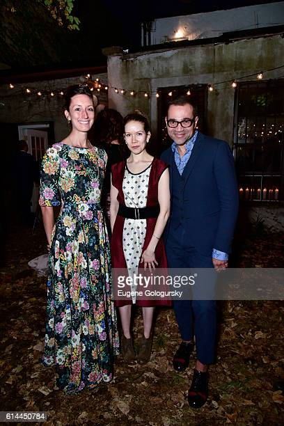 Annie Novak Molly Beauchemin and Sacha Walckhoff attend the Garden Collage and Phaidon Press Host A Botany Salon on October 13 2016 in Brooklyn New...