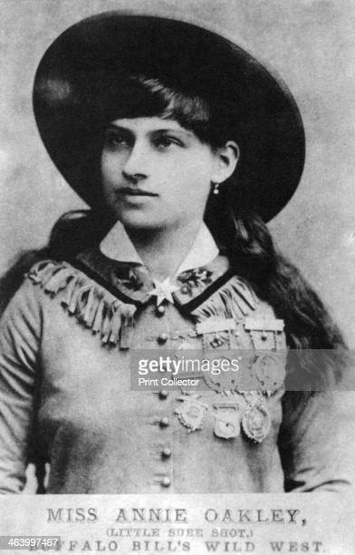 Annie Oakley American exhibition sharpshooter late 19th century Annie Oakley starred in Buffalo Bill's Wild West Show the travelling show conceived...