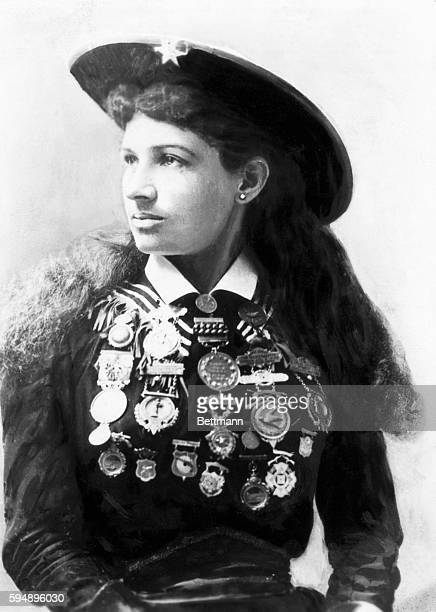 Annie Oakley famous American marks woman Undated photo