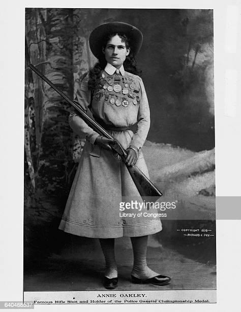 Annie Oakley with Her Gun