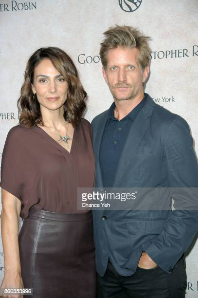 Annie Parisse and Paul Sparks attend 'Good Bye Christopher Robin' New York special screening and reception at The New York Public Library on October...