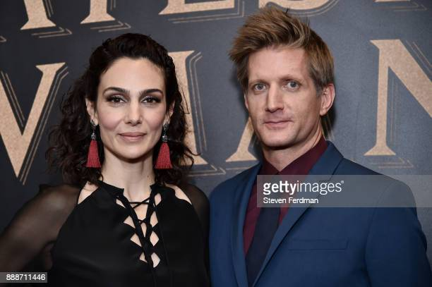 Annie Parisse and Paul Sparks attend 'The Greatest Showman' World Premiere aboard the Queen Mary 2 at the Brooklyn Cruise Terminal on December 8 2017...
