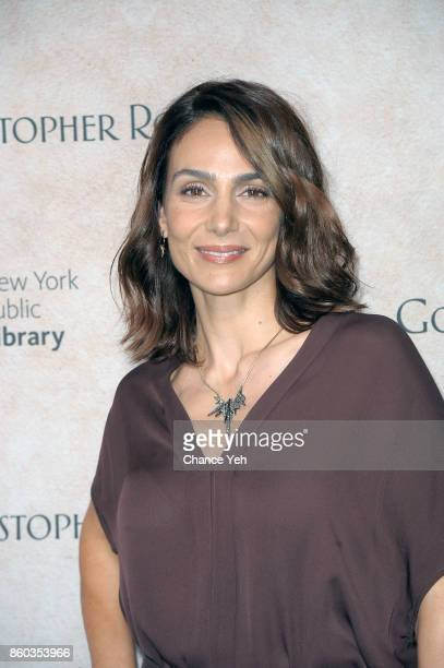 Annie Parisse attends 'Good Bye Christopher Robin' New York special screening and reception at The New York Public Library on October 11 2017 in New...