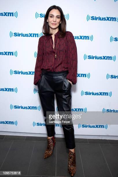 Annie Parisse visits SiriusXM Studios on January 17 2019 in New York City
