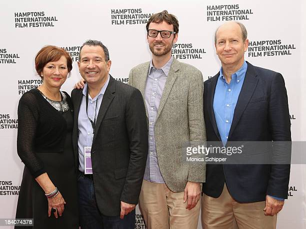 Annie Parker, director Steven Bernstein, Hamptons International Film Festival Artistic Director David Nugent, and Doron Weber attend the 21st Annual...