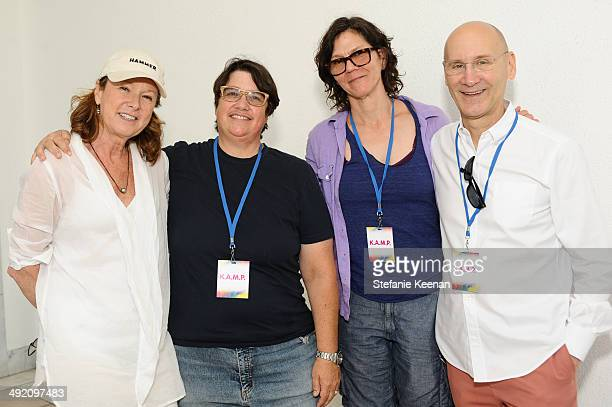 Annie Philbin Cathy Opie Julie Burleigh and Alan Hergott attend Hammer Museum KAMP 2014 on May 18 2014 in Los Angeles California