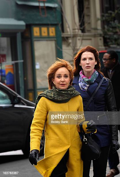 Annie Potts and Bridget Regan filming on location for 'Murder In Manhattan' on March 15 2013 in New York City
