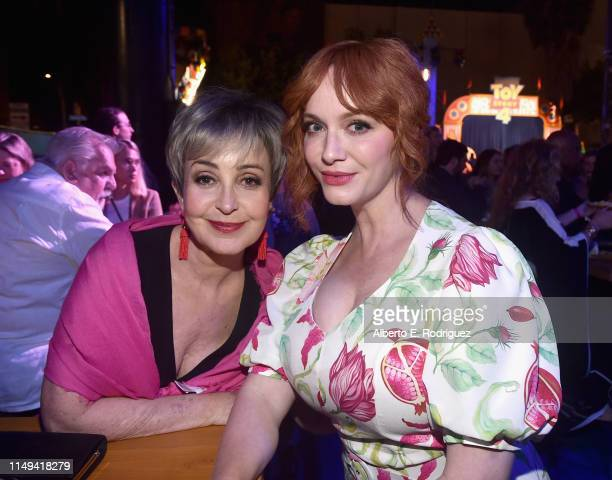 Annie Potts and Christina Hendricks attend the world premiere of Disney and Pixar's TOY STORY 4 at the El Capitan Theatre in Hollywood CA on Tuesday...