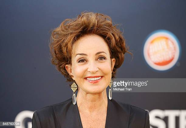 "Annie Potts arrives at the Los Angeles premiere of Sony Pictures' ""Ghostbusters"" held at TCL Chinese Theatre on July 9, 2016 in Hollywood, California."