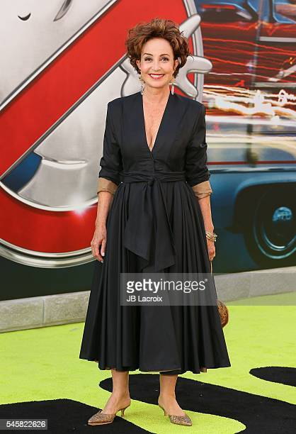Annie Potts attends the premiere of Sony Pictures' 'Ghostbusters' on July 9 2016 in Hollywood California