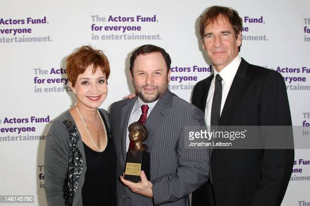 Annie Potts Jason Alexander and Scott Bakula attend The Actors Fund's 16th Annual Tony Awards Viewing Party Honoring Jason Alexander at Skirball...