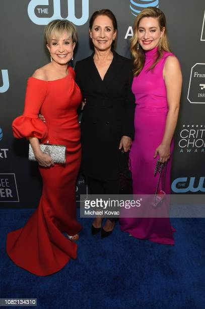 Annie Potts Laurie Metcalf and Zoe Perry attend the 24th annual Critics' Choice Awards at Barker Hangar on January 13 2019 in Santa Monica California