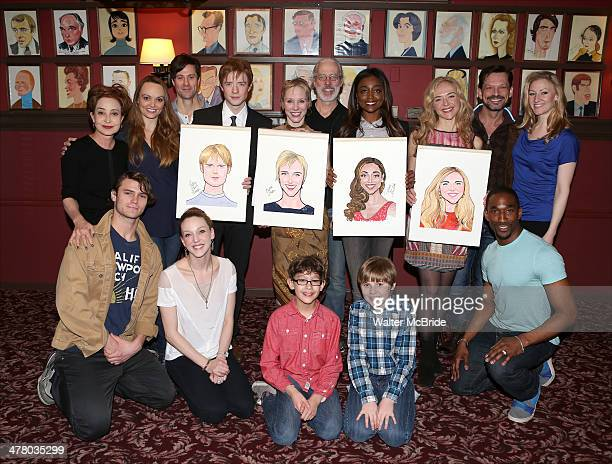 Annie Potts Matthew James Thomas Charlotte d'Amboise Terrence Mann Patina Miller Rachel Bay Jones and the cast attend the Caricature Unveiling for...