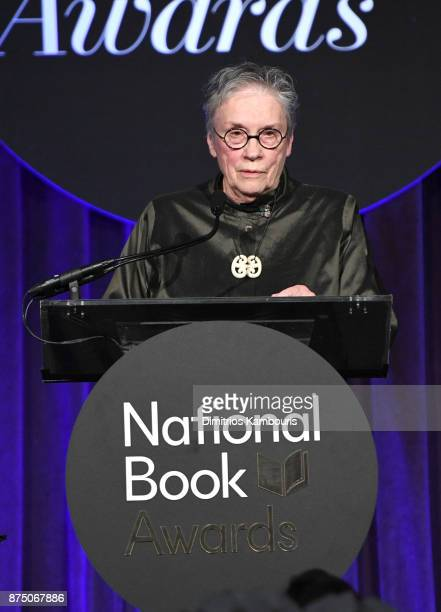 Annie Proulx attends the 68th National Book Awards at Cipriani Wall Street on November 15 2017 in New York City