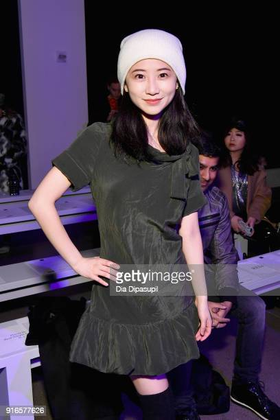 Annie Q attends the Dan Liu fashion show during New York Fashion Week The Shows at Gallery II at Spring Studios on February 10 2018 in New York City