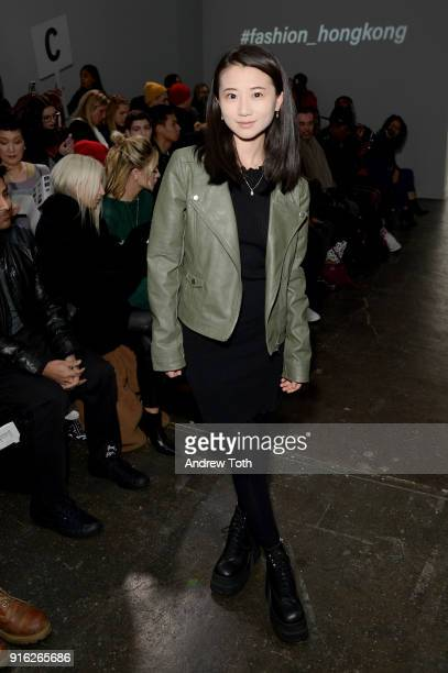Annie Q attends the Fashion Hong Kong front row during New York Fashion Week The Shows at Industria Studios on February 9 2018 in New York City