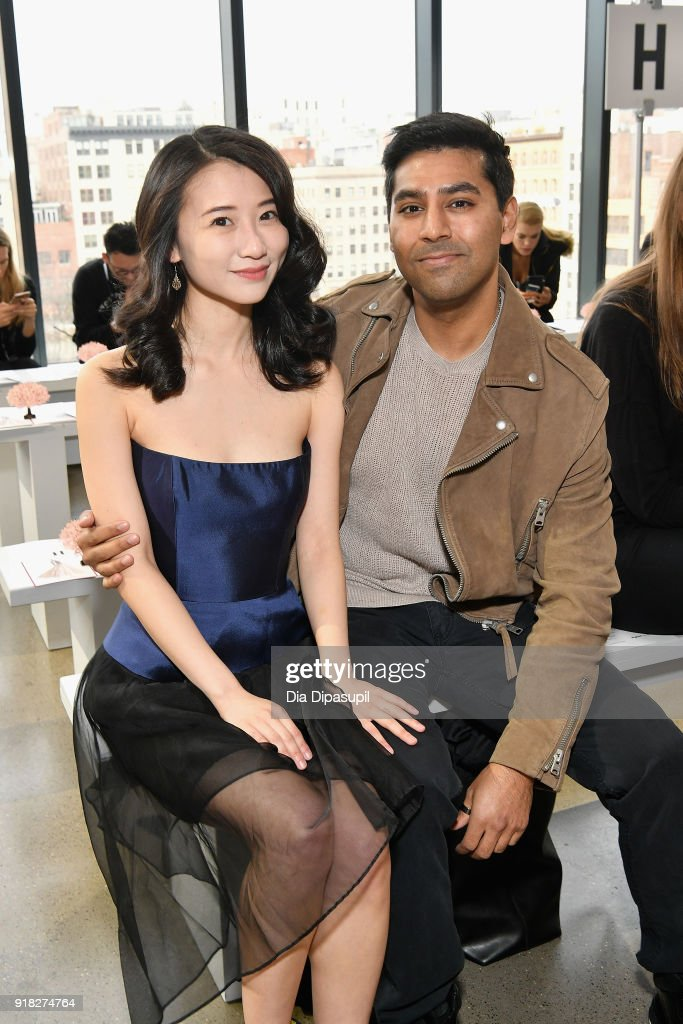 Annie Q (L) attends the Leanne Marshall front row during New York Fashion Week: The Shows at Gallery II at Spring Studios on February 14, 2018 in New York City.