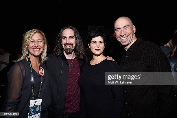 Annie Roney Bear McCreary Megan Kingery and composer and founder of Oovra Music Joel Goodman attend the Film Independent International Documentary...