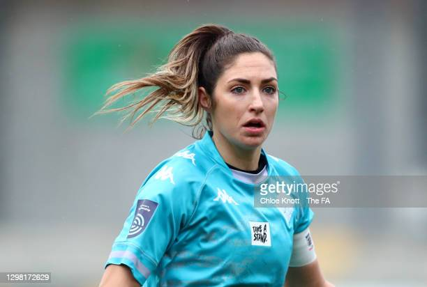 Annie Rossiter of London City Lionesses looks on during the Barclays FA Women's Championship match between London City Lionesses and Blackburn Ladies...