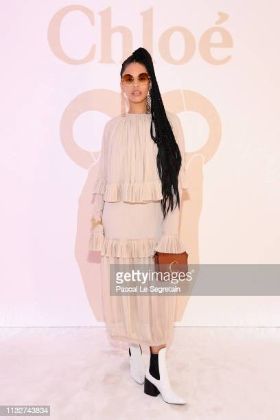 Annie Sama attends the Chloe show as part of the Paris Fashion Week Womenswear Fall/Winter 2019/2020 on February 28 2019 in Paris France