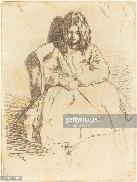 Annie Seated, 1858. Artist James Abbott McNeill Whistler.