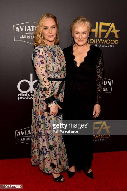 Annie Starke and Glenn Close attend the 22nd Annual Hollywood Film Awards at The Beverly Hilton Hotel on November 4 2018 in Beverly Hills California