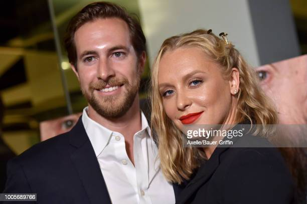 Annie Starke and Marc Albu arrive at Sony Pictures Classics' Los Angeles premiere of 'The Wife' at Pacific Design Center on July 23 2018 in West...