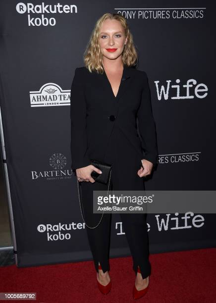 Annie Starke arrives at Sony Pictures Classics' Los Angeles premiere of 'The Wife' at Pacific Design Center on July 23 2018 in West Hollywood...