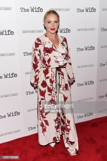 Annie Starke attends the New York Screening of The Wife at The Paley Center for Media on July 26 2018 in New York City