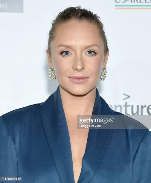 Annie Starke attends the USIreland Alliance 14th Annual Oscar Wilde Awards at Bad Robot on February 21 2019 in Santa Monica California