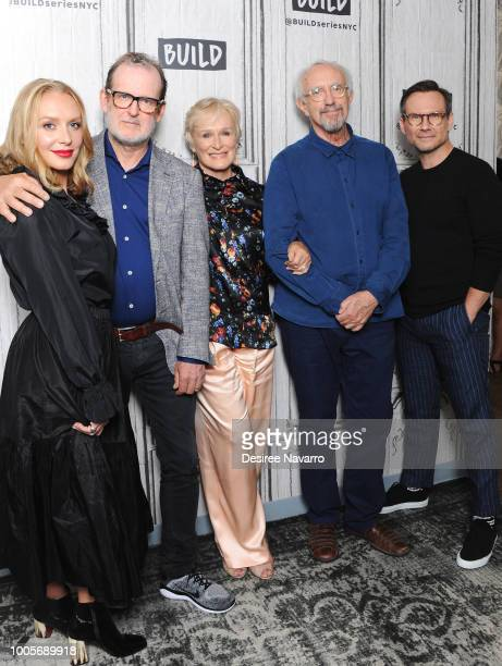 Annie Starke Bjorn Runge Glenn Close Jonathan Pryce and Christian Slater visit Build Series to discuss the film 'T'he Wife' at Build Studio on July...