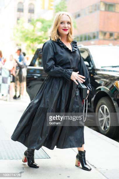 Annie Starke is seen in NoHo on July 26 2018 in New York City