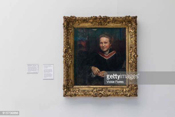 Annie Swynnertons oil portrait of the suffragist Millicent Fawcett is displayed at Tate Britain art gallery on 2nd February 2018 in London England...