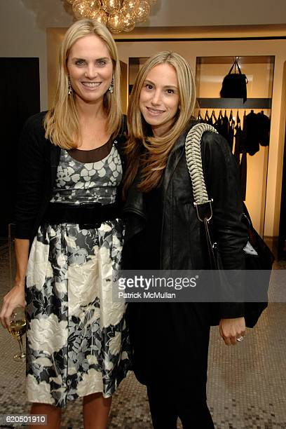 Annie Taube and Cori Galpern attend J MENDEL and JULIE MACKLOWE Host an Evening of Shopping and Cocktails at Bergdorf Goodman on September 25 2008 in...
