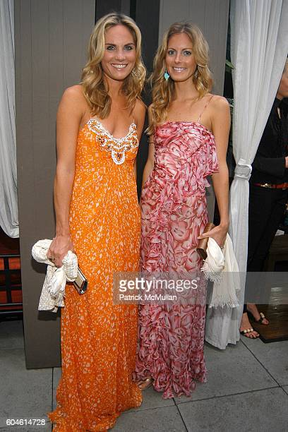 Annie Taube and Ferebee Bishop attend Fashion Fete to celebrate the launch of THE DAILY MINI at Garden of Ono on June 6 2006 in New York City