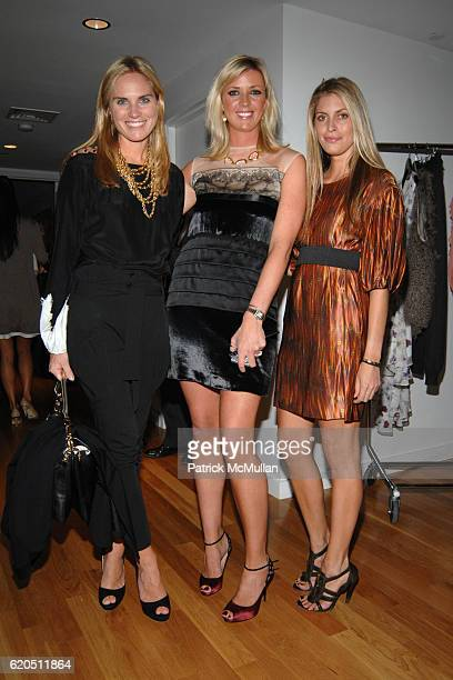 Annie Taube Natalie McGrath and Valerie Boster attend ASMALLWORLD and NETAPORTERCOM hosts a Trunk Show at 333 West 14th Street on September 24 2008...