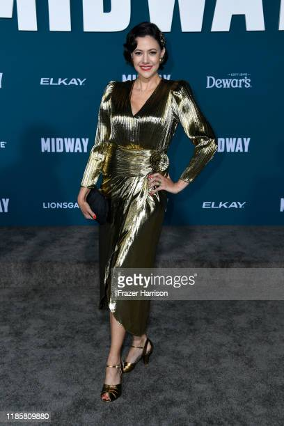 Annie Trousseau attends the Premiere Of Lionsgate's Midway at Regency Village Theatre on November 05 2019 in Westwood California